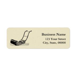 ヴィンテージのイラストレーションの芝刈機の宛名ラベル 返信用宛名ラベル