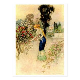 ヴィンテージのイラストレーションの郵便はがき ポストカード