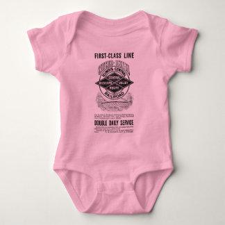 ヴィンテージのイリノイ中央RRの乳児のクリーパー ベビーボディスーツ