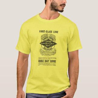 ヴィンテージのイリノイ中央RRの人の基本的なTシャツ Tシャツ