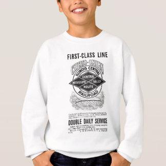 ヴィンテージのイリノイ中央RRの子供のスエットシャツ スウェットシャツ