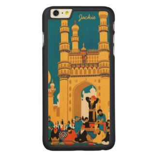 ヴィンテージのインド旅行ポスター習慣のケース CarvedメープルiPhone 6 PLUS スリムケース