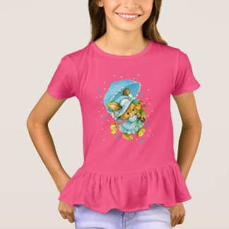 ヴィンテージのイースターのウサギおよびひよこ。 ギフトの子供のTシャツ Tシャツ
