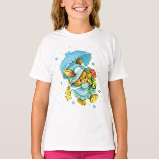 ヴィンテージのイースターのウサギおよびひよこ。 ギフトはTシャツをからかいます Tシャツ