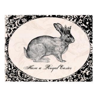 ヴィンテージのイースターのウサギの郵便はがき ポストカード