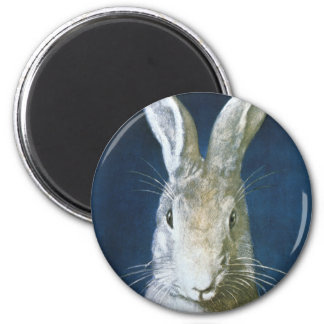 ヴィンテージのイースターのウサギ、かわいい毛皮で覆われた白いウサギ マグネット