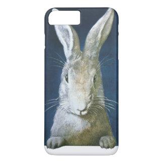 ヴィンテージのイースターのウサギ、かわいい毛皮で覆われた白いウサギ iPhone 8 PLUS/7 PLUSケース