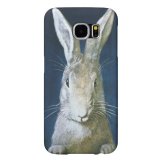 ヴィンテージのイースターのウサギ、かわいい毛皮で覆われた白いウサギ SAMSUNG GALAXY S6 ケース
