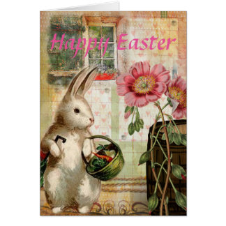 ヴィンテージのイースターのウサギ カード
