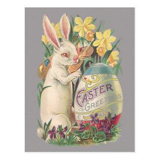 ヴィンテージのイースターのウサギ ポストカード