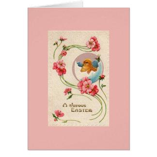 ヴィンテージのイースターひよこの挨拶状 カード