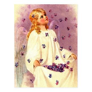 ヴィンテージのイースター天使のキリスト教のイースター郵便はがき ポストカード
