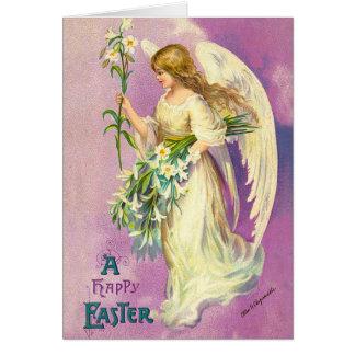 ヴィンテージのイースター天使の恵みカード カード