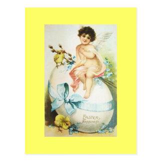 ヴィンテージのイースター天使及びひよこ ポストカード