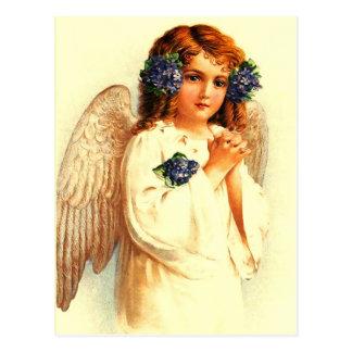 ヴィンテージのイースター天使。 イースターキリスト教の郵便はがき ポストカード