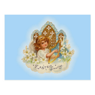 ヴィンテージのイースター挨拶の天使 ポストカード