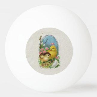 ヴィンテージのイースター春の赤ん坊のひよこの花 卓球ボール