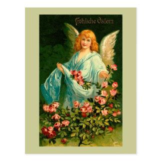 ヴィンテージのイースター美しいドイツの天使 ポストカード