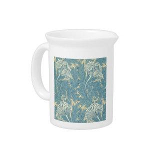 ヴィンテージのウィリアム・モリスのチューリップの花柄 ピッチャー