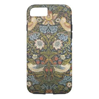 ヴィンテージのウィリアム・モリスの美しい花柄および鳥 iPhone 8/7ケース