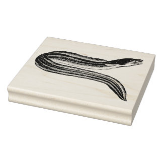 ヴィンテージのウナギのゴム製芸術のスタンプ ラバースタンプ