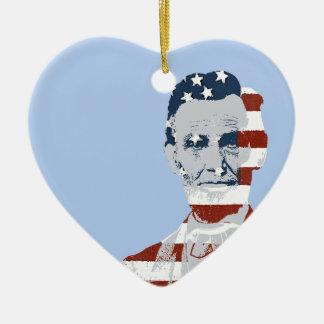 ヴィンテージのエイブラハム・リンカーンの独立記念日 セラミックオーナメント