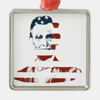 ヴィンテージのエイブラハム・リンカーンの米国旗 メタルオーナメント