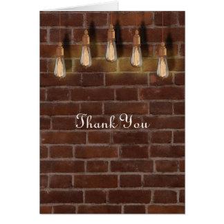 ヴィンテージのエジソンの電球の産業上品の感謝 ノートカード