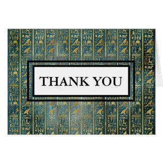 ヴィンテージのエジプトの象形文字はノート感謝していしています カード