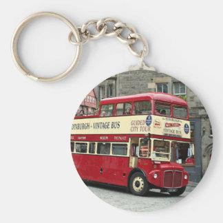 ヴィンテージのエジンバラの観光バス、スコットランド、イギリス キーホルダー