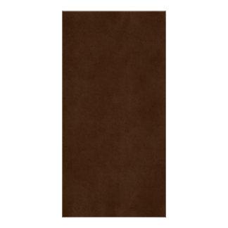 ヴィンテージのエスプレッソの焦茶のアンティークの紙のテンプレート カード