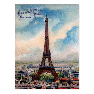 ヴィンテージのエッフェル塔の郵便はがきパリ ポストカード
