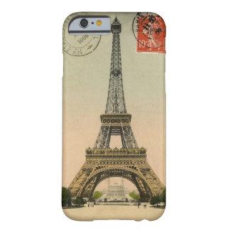 ヴィンテージのエッフェル塔の郵便はがき BARELY THERE iPhone 6 ケース