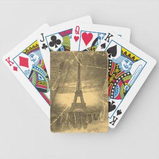 ヴィンテージのエッフェル塔パリ バイスクルトランプ