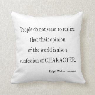 ヴィンテージのエマーソンの感動的なキャラクターの引用文 クッション
