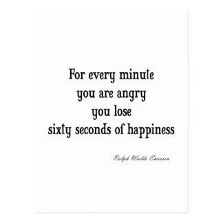 ヴィンテージのエマーソンの感動的な幸福の引用文 ポストカード