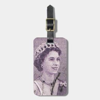 ヴィンテージのエリザベス女王のオーストラリアのオーストラリア人 ラゲッジタグ