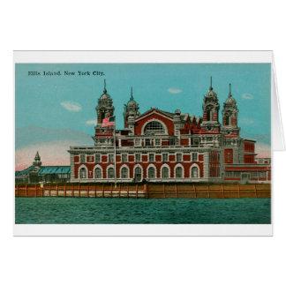 ヴィンテージのエリス島、ニューヨークシティ カード