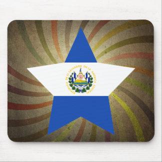 ヴィンテージのエルサルバドルの旗の渦巻 マウスパッド