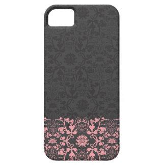 ヴィンテージのエレガントでスタイリッシュでシックなダマスク織のレースの花柄 iPhone 5 ベアリーゼアケース