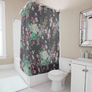 ヴィンテージのエレガントなバラの花のシャワー・カーテン シャワーカーテン