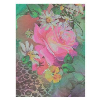 ヴィンテージのエレガントな花のチータのテーブルクロス テーブルクロス