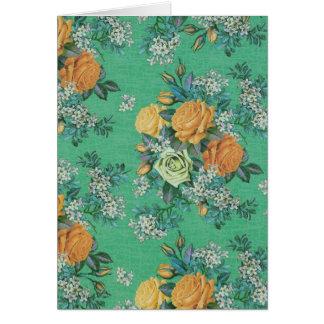 ヴィンテージのエレガントな花の花のテーマの挨拶状 カード