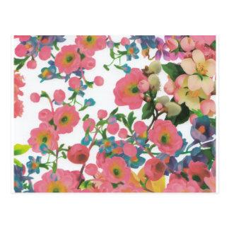 ヴィンテージのエレガントな花の花のテーマパターン ポストカード