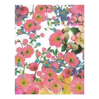 ヴィンテージのエレガントな花の花のテーマパターン レターヘッド