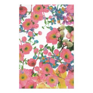 ヴィンテージのエレガントな花の花のテーマパターン 便箋