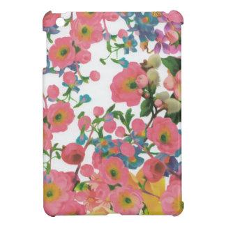 ヴィンテージのエレガントな花の花のテーマパターン iPad MINIケース