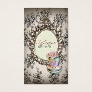 ヴィンテージのエレガントな英国の花のティーカップのファッション 名刺