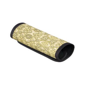 ヴィンテージのエンボスの金属金ゴールドホイルの花柄 ラゲッジ ハンドルラップ