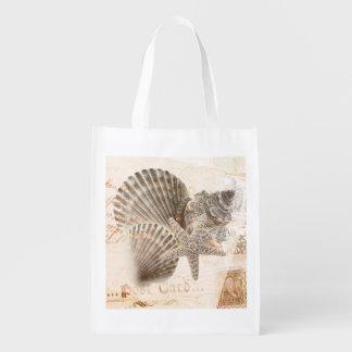 ヴィンテージのオウムガイのヒトデの貝殻 エコバッグ